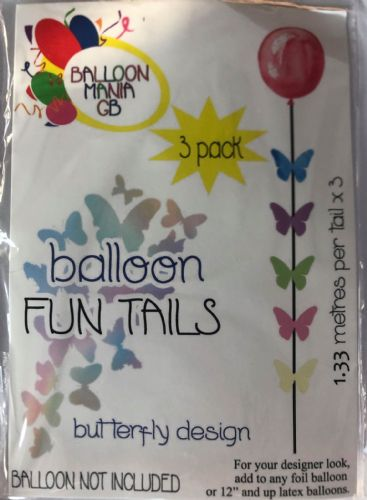 BUTTERFLY BALLOON TAILS  THREE PACK